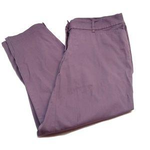 Loft Original Crop Purple Size 6 Crop Pant